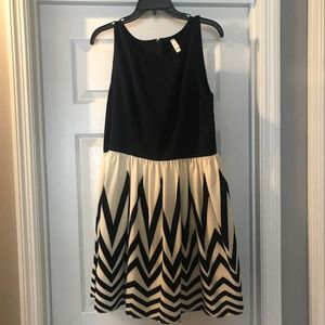 Fit and Flare Chevron Dress in Women